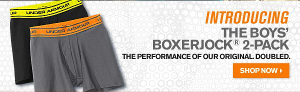 INTRODUCING THE BOYS' BOXERJOCK® 2-PACK. SHOP NOW