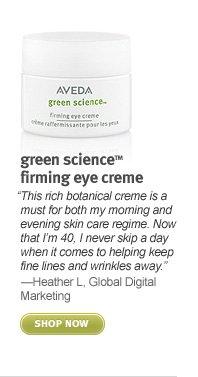 green science firming eye cream. shop now.