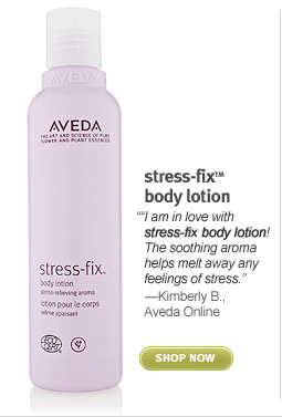 stress fix body lotion. shop now.