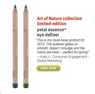 art of nature collection limited edition. petal essence eye definer. shop now.
