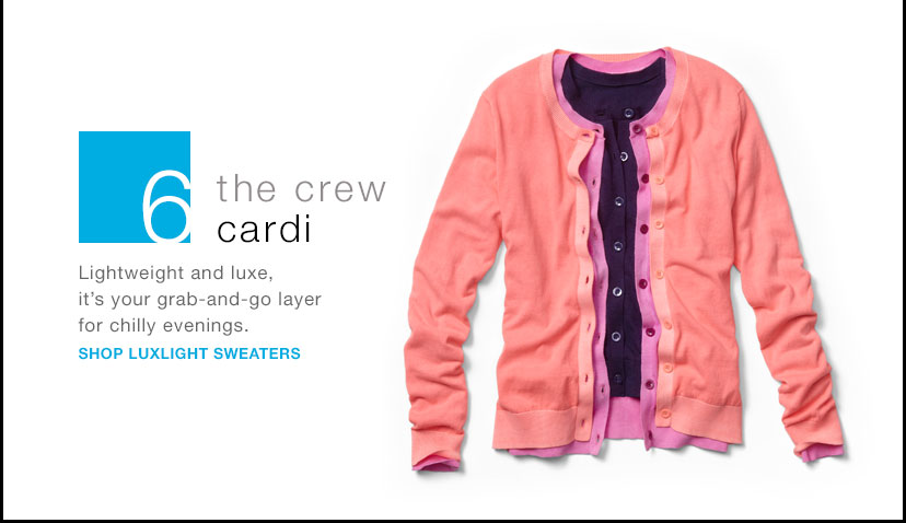 the crew cardi   SHOP LUXLIGHT SWEATERS