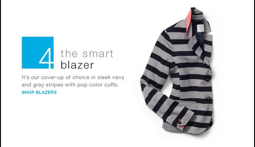 the smart blazer   SHOP BLAZERS