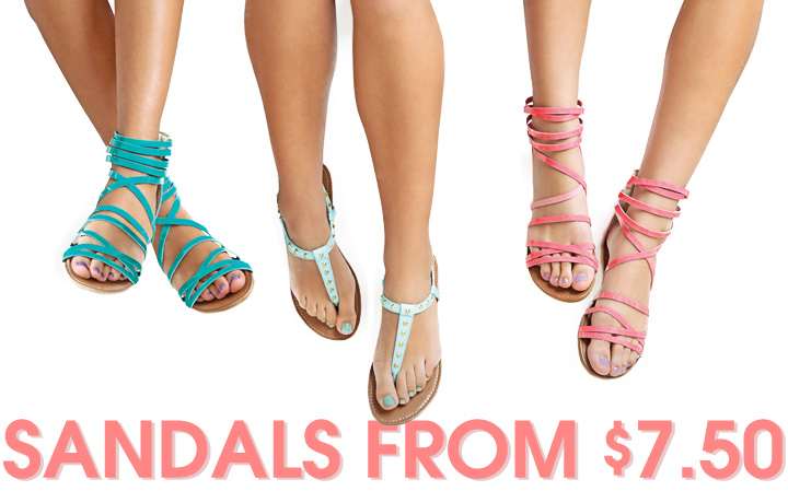 Shop Sandals From $7.50