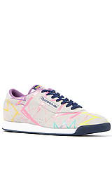 The Reebok x Basquiat Princess Sneaker in Steel, Club Blue, White & Multi