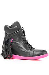 The Mickie Sneaker in Black and Pink