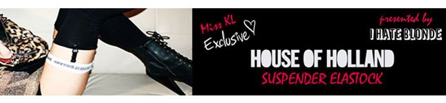 Miss KL Exclusive: House of Holland Suspender Elastock