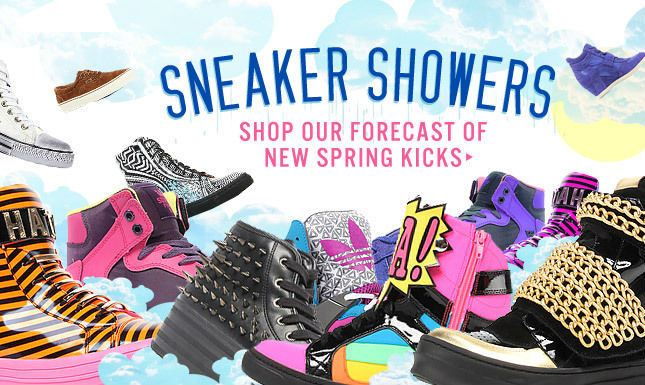 Shop our Forecast of New Spring Kicks