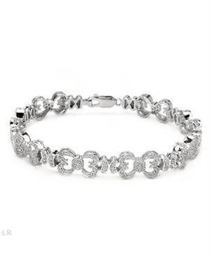 1.14 CTW Diamonds Bracelet Designed In 925 Sterling Silver $249