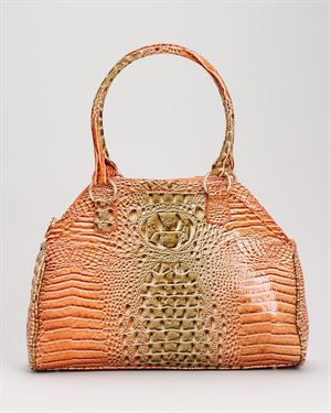 Vecceli Alligator Embossed  Chain Detail Shoulder Bag