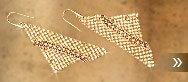 Fit Crystal Golden Shadow Pierced Earrings