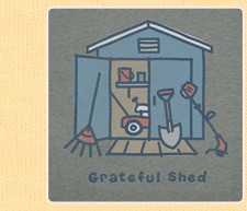 Mens Crusher Tees Grateful Shed
