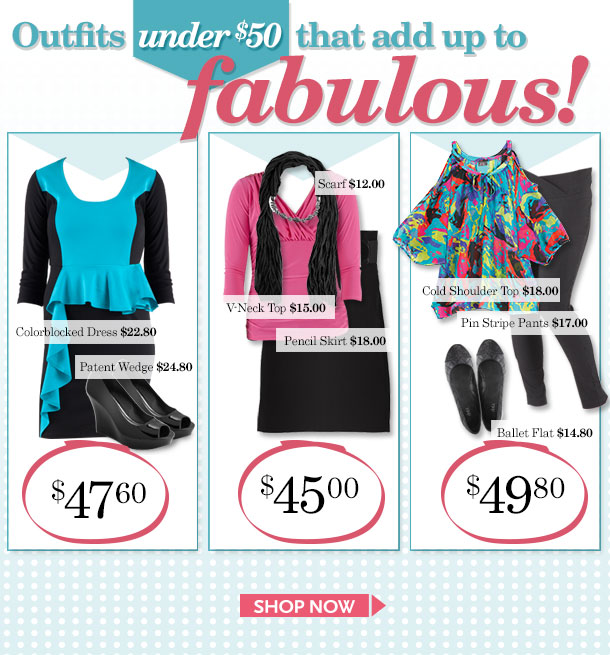 Outfits Under $50 That Add Up to FABULOUS! SHOP NOW!