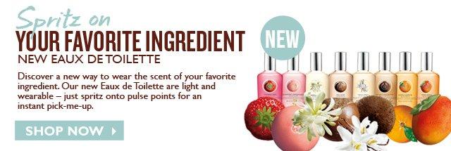 NEW  --  Spritz on  --  YOUR FAVORITE INGREDIENT