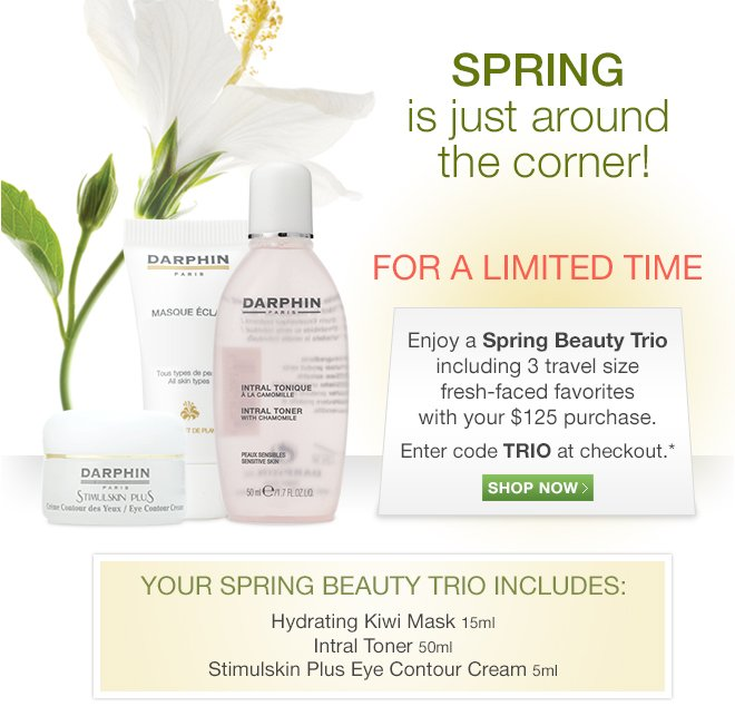 Enjoy a Spring Beauty Trio