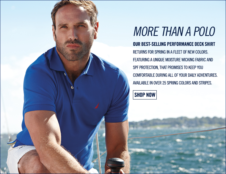 More than a Polo. Our Best-Selling DECK SHIRT returns in a fleet of new colors for spring.