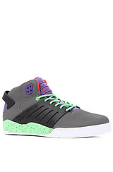 The Skytop III Sneaker in Charcoal Express TUF, Purple Neoprene, & Red Accents