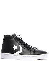 The Pro Leather Sneaker in Black & White