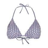Paul Smith Swimwear - Pink Geometric Print Triangle Bikini Top