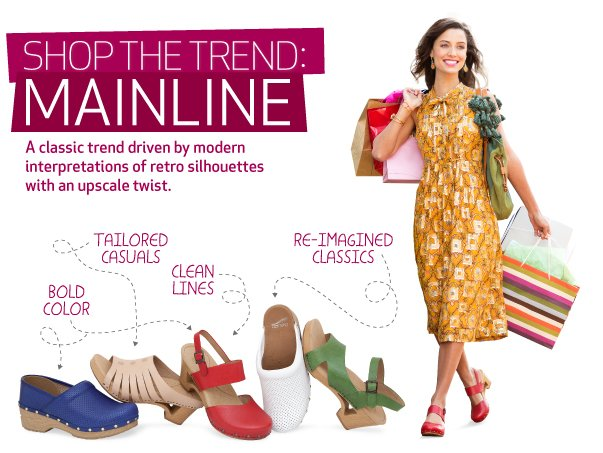 Shop the Trend: Mainline. A classic trend driven by modern interpretations of retro silhouettes with an upscale twist
