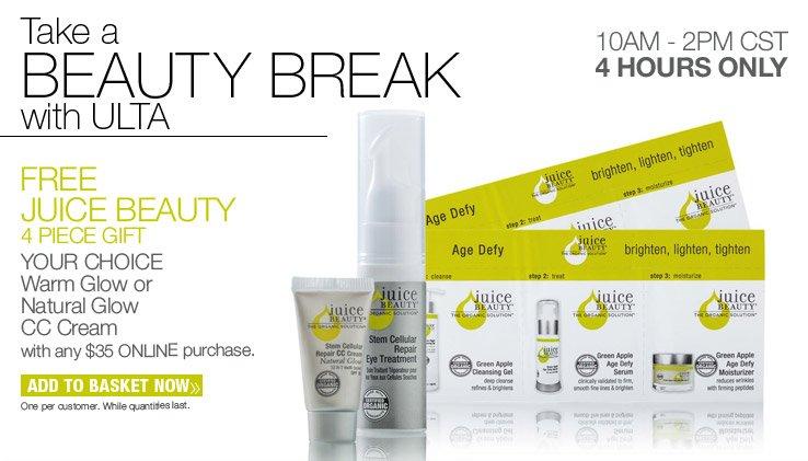 FREE Juice Beauty 4 pc Gift Set