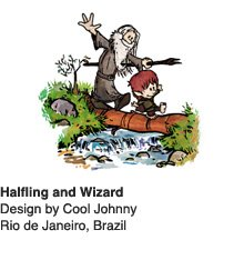 Halfling and Wizard - Design by Cool Johnny / Rio de Janeiro, Brazil