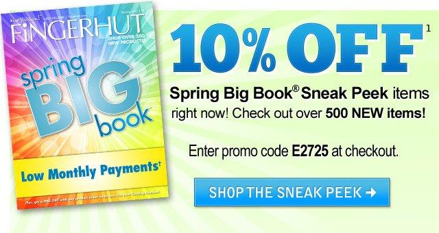 10% OFF spring big book sneak peek items