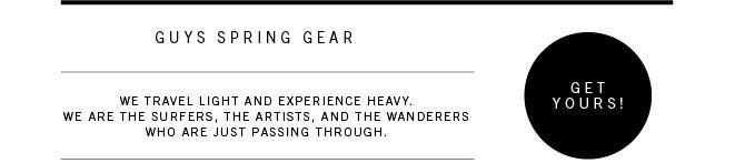 Guys Spring Gear