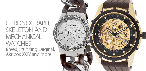 Chronograph, Skeleton and Mechanical Watches
