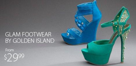 Glam footwear by Golden Island