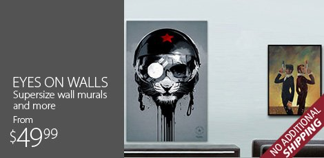 Eyes on Walls Supersize Wall Murals and more