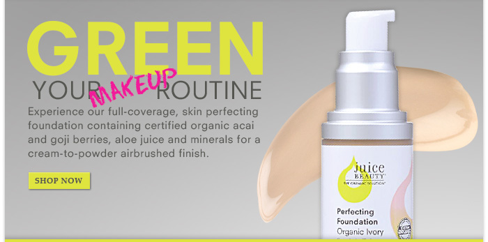 Green Your Routine with Perfecting Foundation