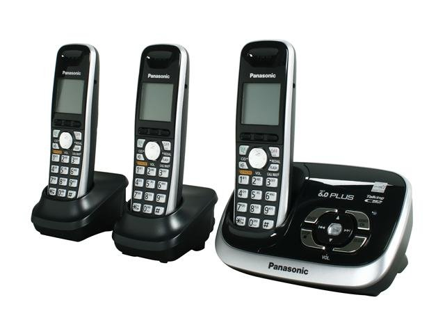 Panasonic KX-TG6533B 1.9 GHz Digital DECT 6.0 3X Handsets Cordless Phone