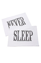 The NEVER SLEEP Pillowcase Set