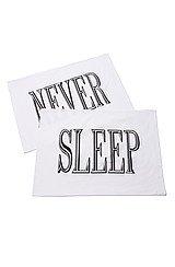 The NEVER SLEEP Pillowcase Set