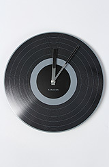 The Black Record Wall Clock (12')
