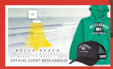 Rip Curl Pro Bell's Beach - March 27 - April 7 2013 - Official Event Merchandise