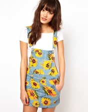 Joyrich Sunflower Dungaree Dress