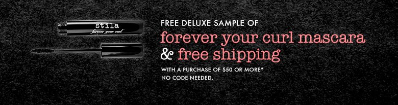 free deluxe sample mascara and free shipping