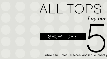 All Tops & Shorts BOGO 50% OFF!