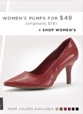 ONLINE ONLY TODAY // WOMEN'S PUMPS FOR $49 (originally $79) / SHOP WOMEN'S