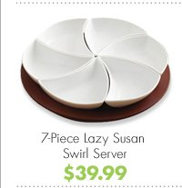 7-Piece Lazy Susan Swirl Server $39.99