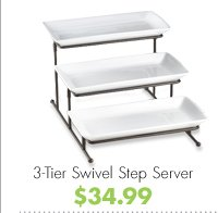 3-Tier Swivel Step Server $34.99