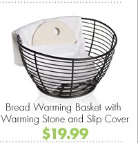 Bread Warming Basket with Warming Stone and Slip Cover $19.99