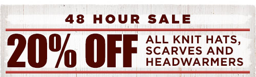 48 Hour Sale - 20% Off all knit hats, scarves and headwarmers