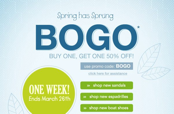 Celebrate Spring… With Our BOGO Sale!