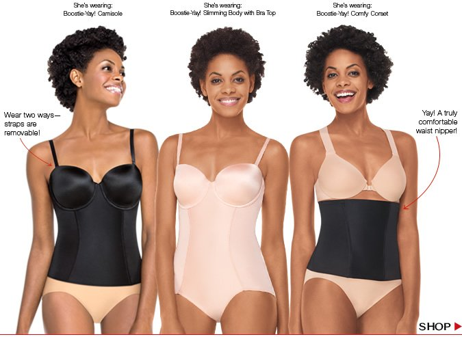 Introducing retro-inspired, comfortable corsetry with super-duper slimming. Shop!