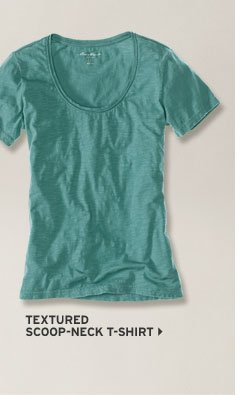 Textured Cotton V-Neck T-Shirt