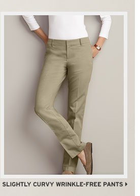 Slightly Curvy Wrinkle-Free Pants