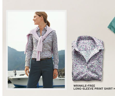 Wrinkle-Free Long-Sleeve Print Shirt
