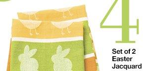 4 Set of 2 Easter Lacquard Dishtowels  $6.50 Reg. $12.95